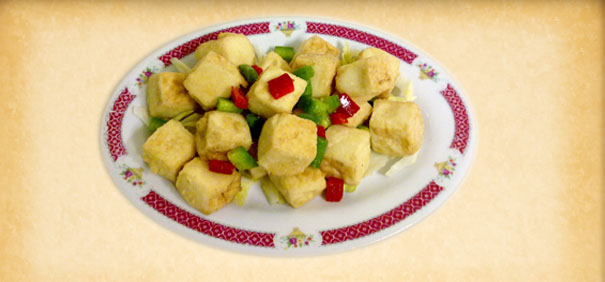 Tian-Ran-Vegetarian-restaurant-fry-tofu