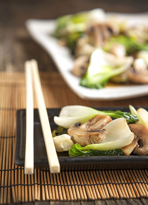 Tianran-vegetarian-restaurant-Stir-Fried-Bok-Choy-With-Mushroom